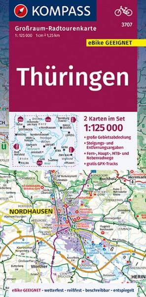 KOMPASS Karte Thüringen