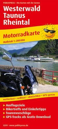 Motorradkarte Westerwald - Taunus - Rheintal