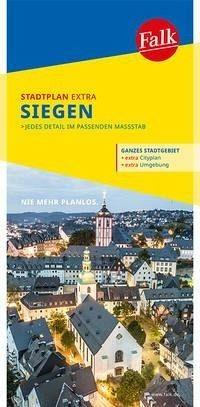 Falk Stadtplan Extra Standardfaltung Siegen