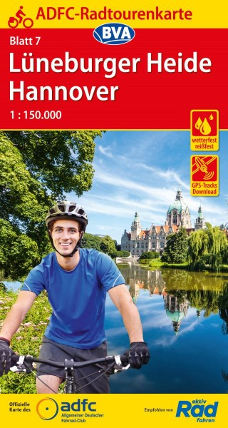 ADFC-Radtourenkarte 7 Lüneburger Heide