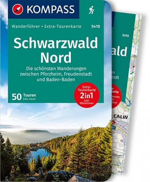 KOMPASS Wanderführer Schwarzwald Nord mit Karte