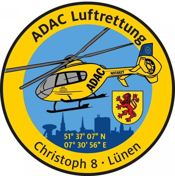 ADAC Luftrettung Fanpatch Christoph 8-Lünen