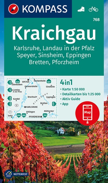 KOMPASS Wanderkarte Kraichgau, Karlsruhe
