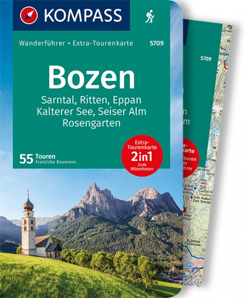 KOMPASS Wanderführer Bozen, Sarntal, Ritten, Eppan
