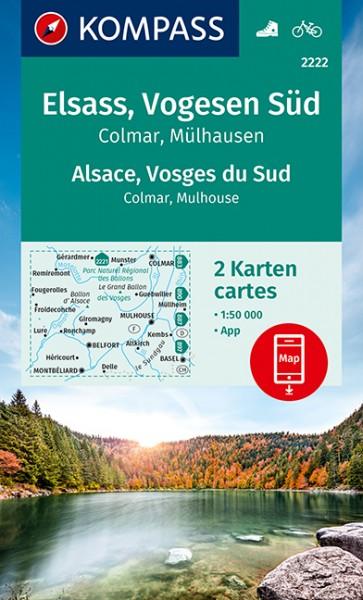 Kompass WK Elsass, Vogesen Süd, Colmar, Mülhausen