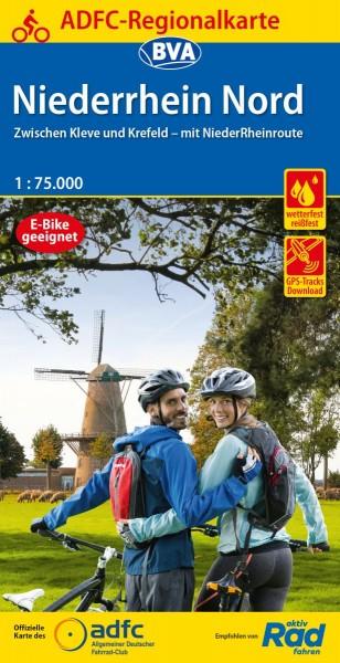 ADFC Regionalkarte Niederrhein Nord