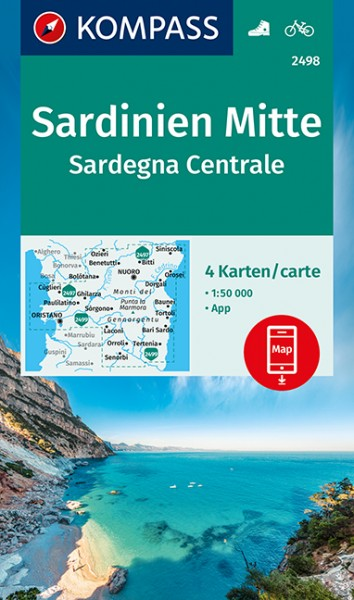 KOMPASS Wanderkarte Sardinien Mitte (4-K-Set)