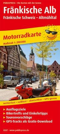 Motorradkarte Fränkische Alb - Fränkische Schweiz