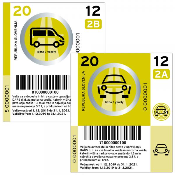 Slowenien Vignette PKW - 1 Jahr