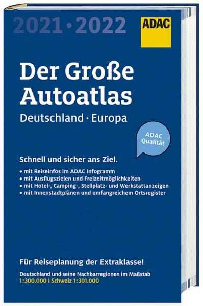 Großer ADAC AutoAtlas Deutschland/Europa 2021/2022