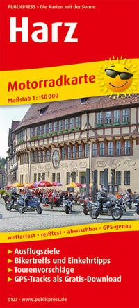 Motorradkarte Harz