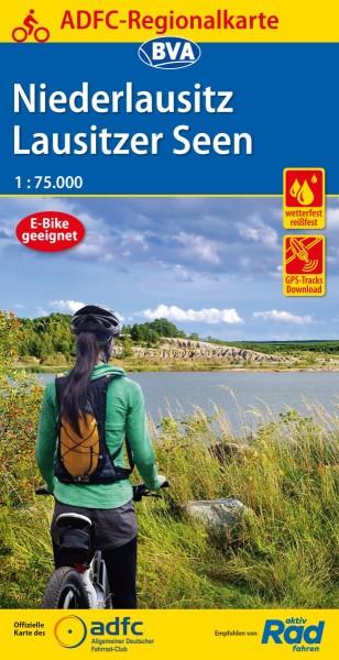 ADFC Regionalkarte Niederlausitz/Lausitzer Seen