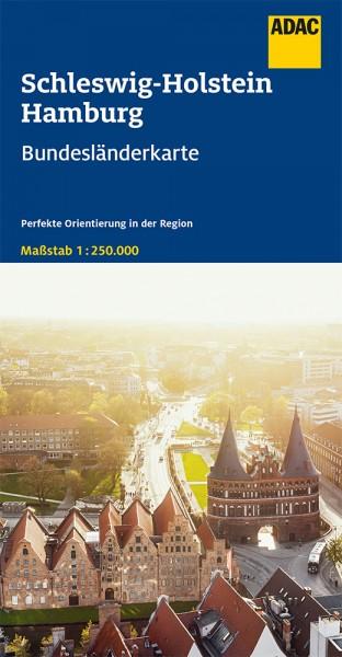 ADAC BundesländerKarte Deutschland Schle.-Holstein