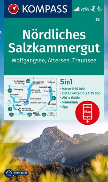 KOMPASS Wanderkarte Nördliches Salzkammergut