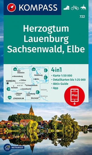 KOMPASS WK Herzogtum Lauenburg, Sachsenwald, Elbe
