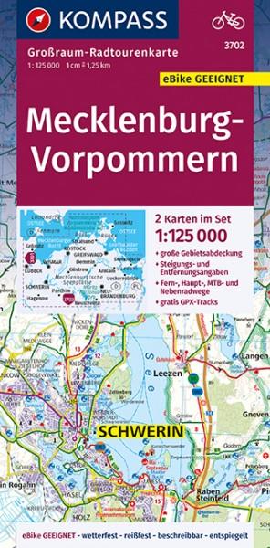 KOMPASS Karte Mecklenburg-Vorpommern