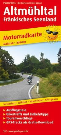 Motorradkarte Altmühltal - Fränkisches Seenland