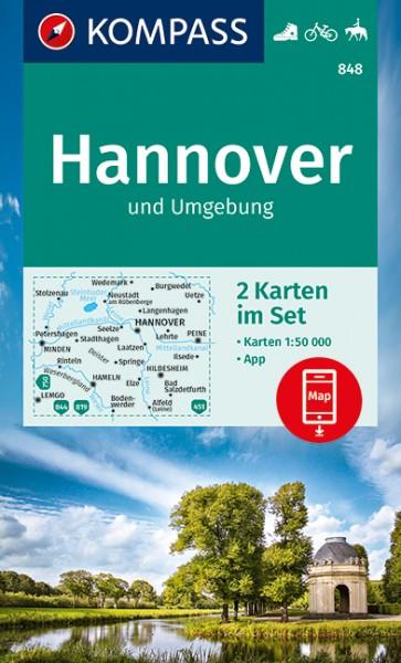 KOMPASS Wanderkarten-Set Hannover und Umgebung