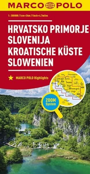 MP Karte Kroa. Küste/Slowenien