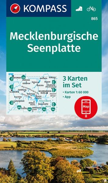 KOMPASS Wanderkarte Mecklenburgische Seenplatte