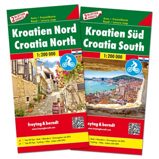 F&B Autokarten Set Kroatien Nord und Süd