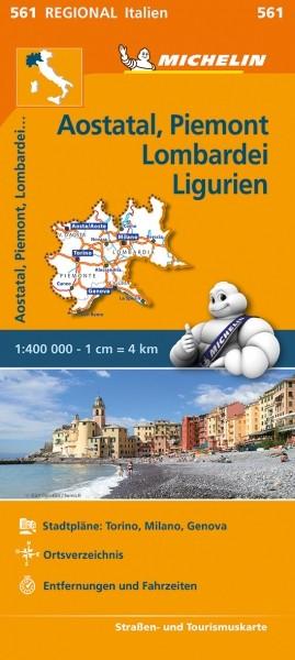 Michelin Regionalkarte Aostatal, Piemont