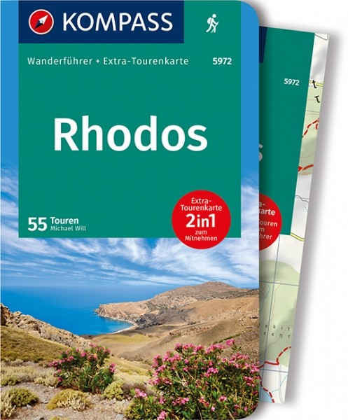 Kompass Wanderführer Rhodos