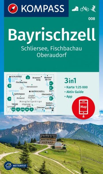 KOMPASS Wanderkarte Bayrischzell, Schliersee