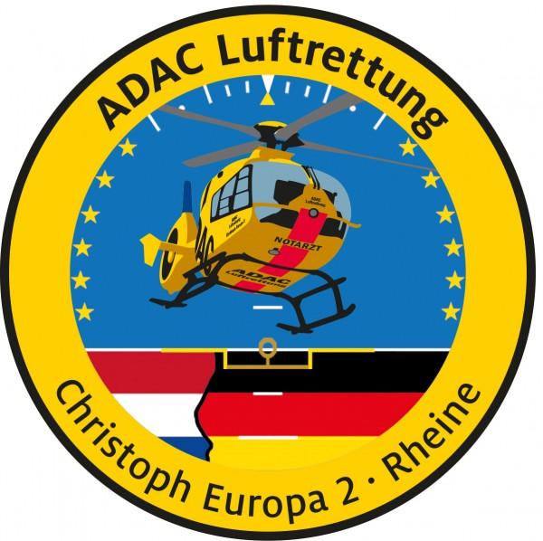 ADAC Luftrettung Fanpatch Christoph Europa 2-Rhei.