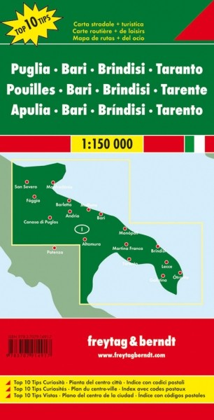 F&B Autokarte Apulien, Bari