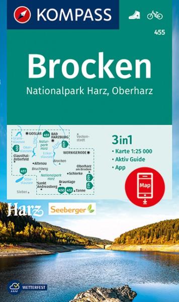 KOMPASS Wanderkarte Brocken, Nationalpark Harz