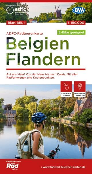 ADFC-Radtourenkarte BEL 1 Belgien Flandern