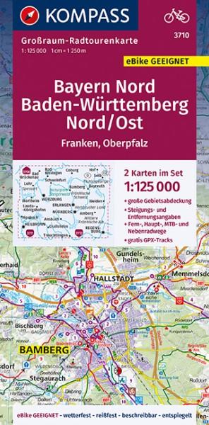 KOMPASS Karte Bayern Nord, Baden-Württem. Nord/Ost