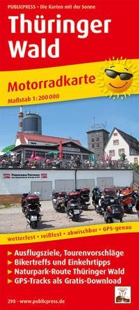 Motorradkarte Thüringer Wald