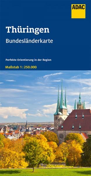 ADAC BundesländerKarte Deutschland Thüringen