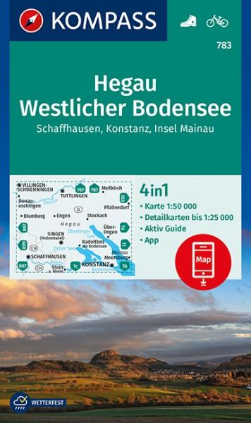 KOMPASS Wanderkarte Hegau, Westlicher Bodensee