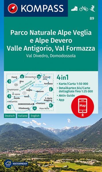 KOMPASS Wanderkarte Parco Naturale Alpe Veglia