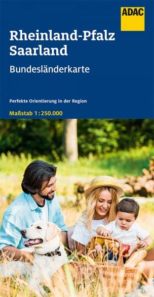 ADAC BundesländerKarte Deutschland Rheinland-Pfalz
