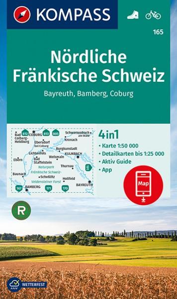KOMPASS Wanderkarte Nördliche Fränkische Schweiz