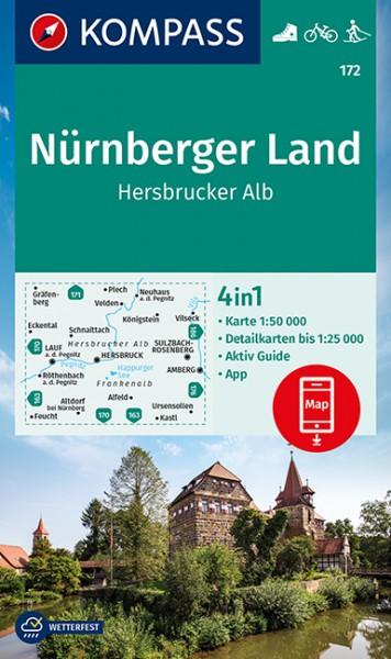 KOMPASS Wanderkarte Nürnberger Land, Hersbr. Alb