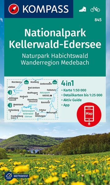 KOMPASS Wanderkarte Nationalpark Kellerwald-Eders.