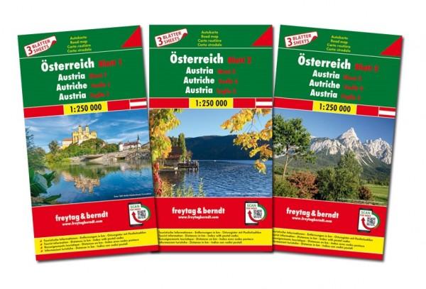 F&B Autokarten Set Österreich
