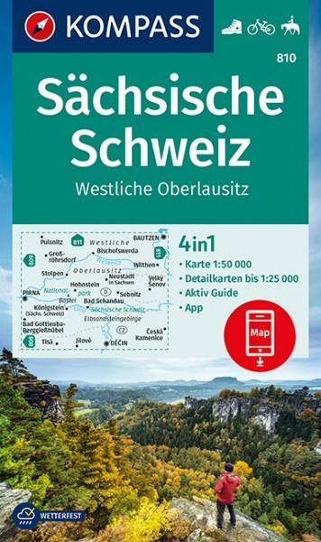 KOMPASS Wanderkarte Sächsische Schweiz