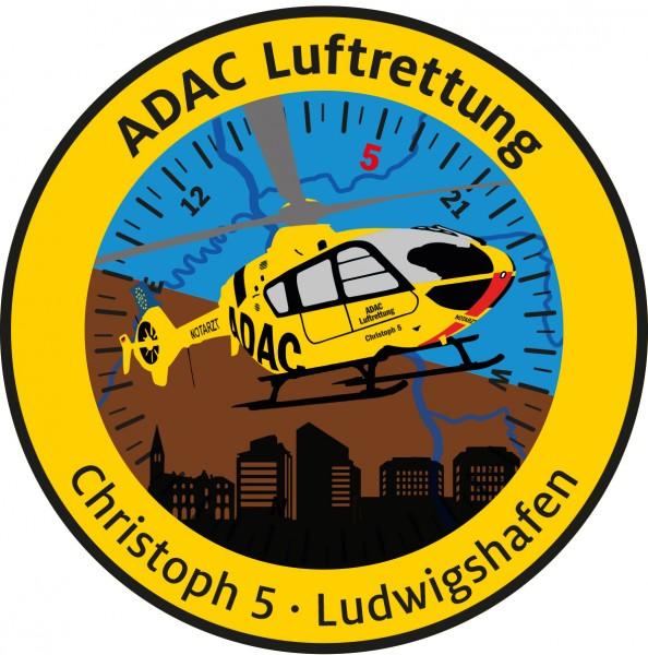 ADAC Luftrettung Fanpatch Christoph 5-Ludwigshafen
