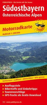Motorradkarte Südostbayern - Österreichische Alpen