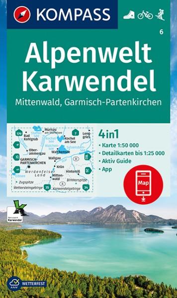 KOMPASS Wanderkarte Alpenwelt Karwendel Mittenwald