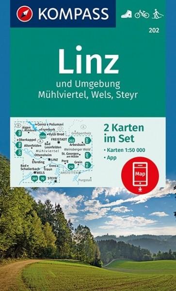 KOMPASS Wanderkarte Linz und Umgebung