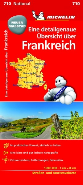 Michelin Nationalkarte Frankreich (800K)