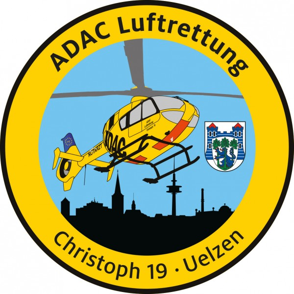 ADAC Luftrettung Fanpatch Christoph 19-Uelzen