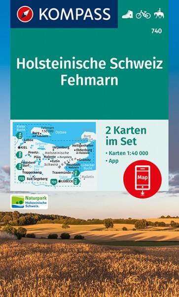 KOMPASS Wanderkarte Holsteinische Schweiz, Fehmarn